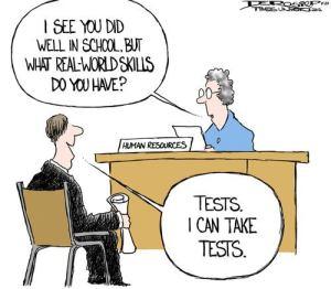 Het gevolg van gestandaardiseerde testen.